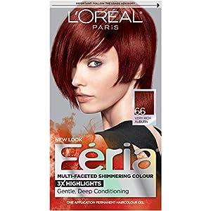 19. L'Oréal Paris Feria Permanent Hair Color, 66 Ruby Fusion (Very Rich Auburn)
