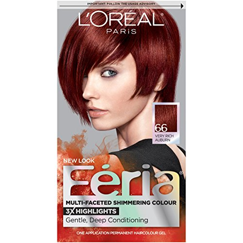 L'Oreal Paris Feria Multi-Faceted Shimmering Color, 66 Ruby Fusion (Very Rich Auburn)