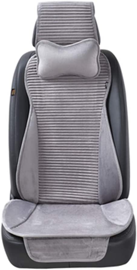 Invierno cálido colchón del asiento del coche, Asiento Nano terciopelo cubierta del coche, con el apoyo para la cabeza del asiento 5 del color del coche universal de la cubierta,Gris