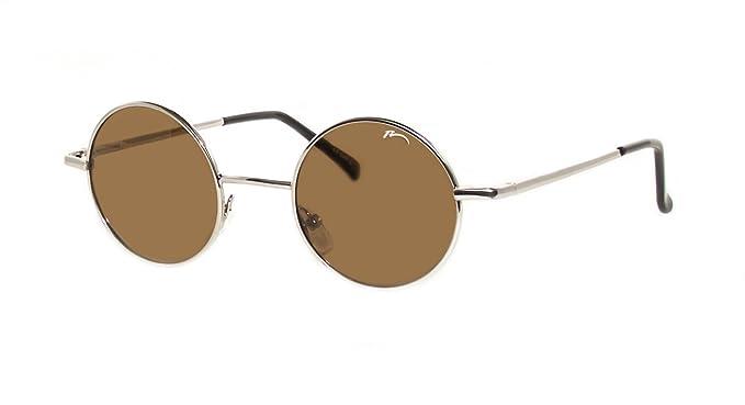 Sonnenbrille Retro Hippi Lennon Stil Runde Polarisier Gläser /Gold /R2317G HGYNh