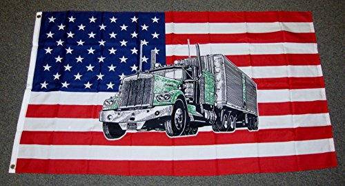 Usa Truck Flag 3x5 Feet Trucker Trucking Untied States Of Am