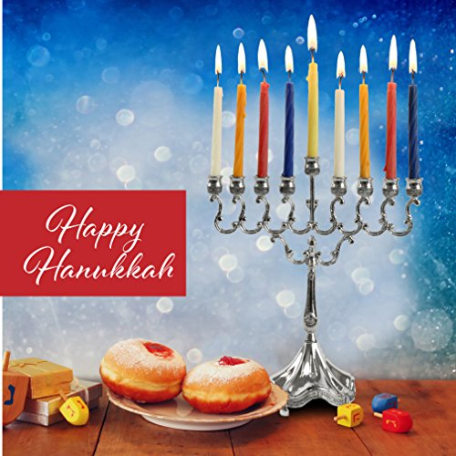 """Silver Plated Candle Menorah - Fits all Standard Hanukkah Candles - Curved Branches, 8.5"""" High x 6.5"""" Wide - by Ner Mitzvah by Ner Mitzvah (Image #3)"""