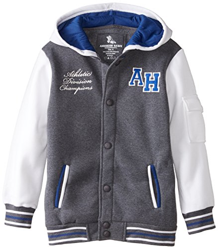 American Hawk Big Boys' Varsity Look Fleece Hooded Jacket, C