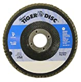 Weiler Type 27 Non-Woven Zirconium Flap Disc - Fine Grade - 5 in Dia 7/8 in Center Hole - 12000 Max RPM - 50716 [PRICE is per DISC]
