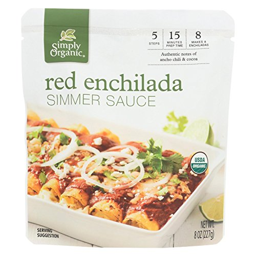 Simply Organic Red Enchilada Simmer Sauce, 8 - Mexican Enchilada Sauce