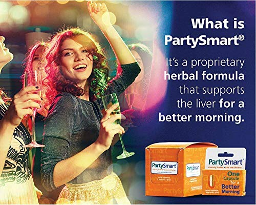Himalaya PartySmart for Hangover Prevention, Alcohol Metabolism and a Better Morning After, 10 Capsules 250mg (3 Pack) by PARTYSMART (Image #4)