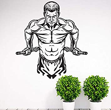 yaonuli Vinilos Decorativos vinilos Adhesivos vinilos Adhesivos Fuertes de Fitness Adhesivos de Vinilo Mural extraíble 42x80cm
