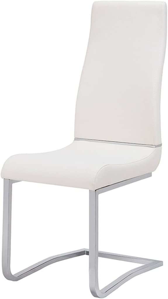 American Eagle Furniture Modern PU Leather Swing Dining Room Chair, Set of 2, White