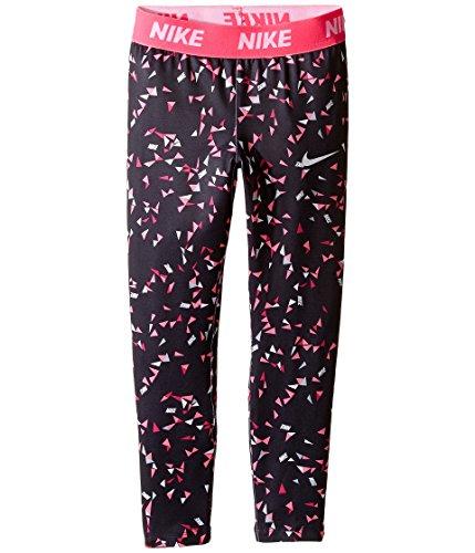 Nike Kids Dri-FIT Sport Essentials Print Legging Little Kids Black/Hyper Pink Girl's Casual Pants