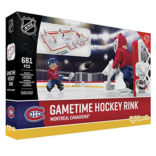 OYO NHL Montreal Canadiens Full Rink Set, Small, Black - Montreal Canadiens Rink