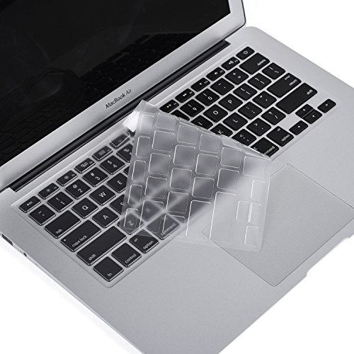 (Premium for MacBook Pro Keyboard Cover Ultra Thin Protective Skin for MacBook Air 13 Inch, MacBook Pro 13 Inch/15 Inch(with or w/Out Retina Display, 2015 or Older Version), Clear)