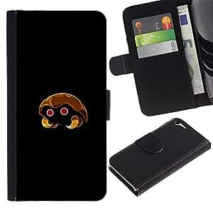 Protector de cuero de la PU de la cubierta del estilo de la carpeta del tirón BY RAYDREAMMM - Apple Iphone 5 / 5S - Kabuto P0kemon