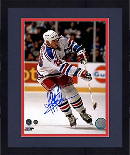 - Framed Jeff Beukeboom Signed White Jersey New York Rangers 8x10 Photo - Steiner Sports Certified - Autographed NHL Photos