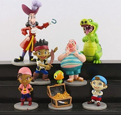 New 7pcs/set Anime Cartoon Jake and The Neverland Pirates PVC Action Figure Toys by Papatchaya by Papatchaya