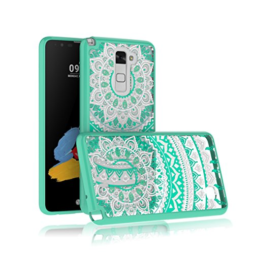 LG Stylus 2 Case, LG Stylo 2/Stylo 2V/Stylus 2 Plus/Stylo 2 Plus Case, Bestselling [PAINTING]Transparent Girl lovely painting patterns Slim clear hard TPU skin scratch bumper case - Turquoise