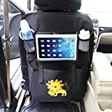 Luxury Car Back Seat Organizer with Tablet Holder For iPad Touch Screen Storage Bag Hot - Easy to Clean - Durable Material - Fits Your Truck, Car, Minivan or SUV