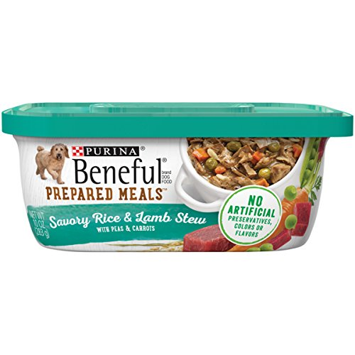 - Purina Beneful Prepared Meals Savory Rice & Lamb Stew Adult Wet Dog Food - (8) 10 Oz. Tubs