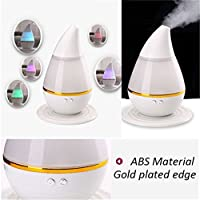 NiceMax Dual Use 250ml Essential Oil Diffuser USB Mini Air Purifie Mist Humidifier with Adjustable Mist Mode,Waterless Auto Shut-off and 7 Color LED Lights Changing For Bedroom Baby Office (White)