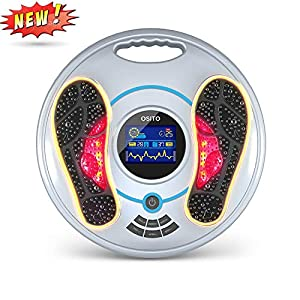 Electrical Pulse Foot Massager – Feet and Legs Massager Machine for Neuropathy – Electrical Nerve Muscle Massage with Infrared Remote and TENS for Body Pain Reflexology