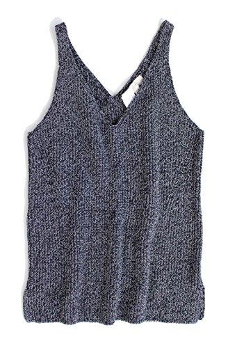 Ann Taylor V-neck Sweater (Ann Taylor LOFT Women's - Marled Cotton V-Neck Sweater Tank Top (Medium))