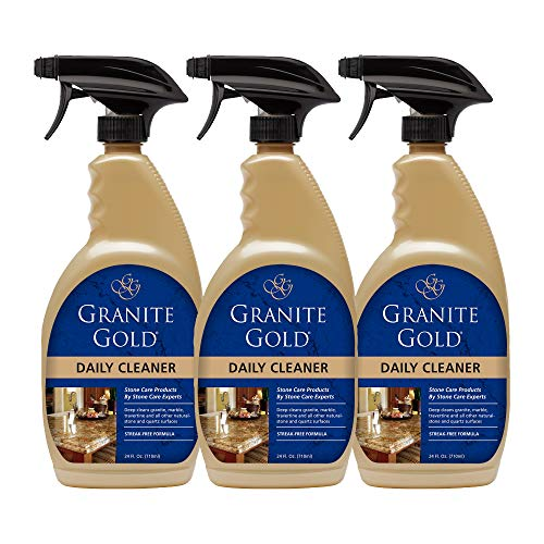 Granite Gold Daily Cleaner Spray - Streak-Free Stone Cleaning Formula, Made In The USA - 24 Ounces, 3 - Gold Stone Family