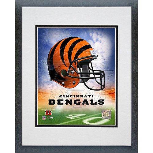 Photo File Cincinnati Bengals Helmet Logo 8x10 Framed Photo