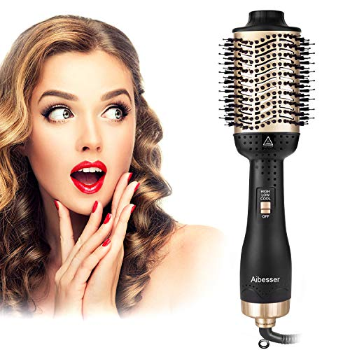 Aibesser Secador de 4 en 1 pelo multifuncion,cepillo de aire caliente, secador de cabello voluminizador,secador de iones negativo,pincel para secador de pelo