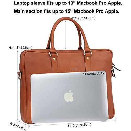 Banuce Vintage Leather Tote Briefcase for Men Business Messenger 14 inch Laptop Bag by Banuce (Image #4)