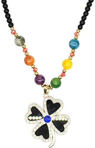Retro Wood Beads Necklaces Stone Pendant Long Sweater Necklace Women Jewelry PL