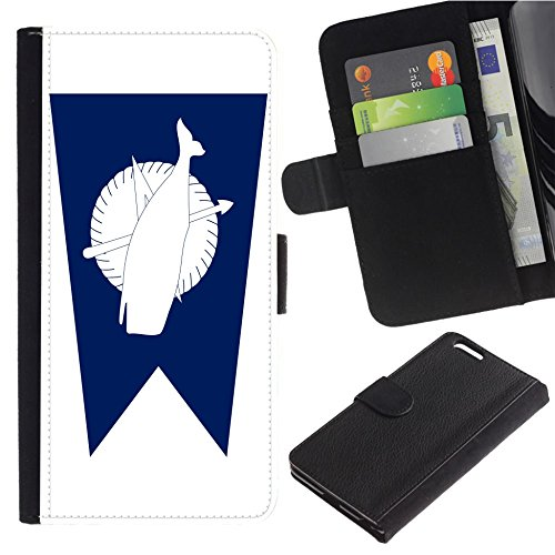 Nantucket Leather Wallet - [Flag of Nantucket] For Samsung Galaxy C5 Flip Leather Wallet Holsters Pouch Skin Case