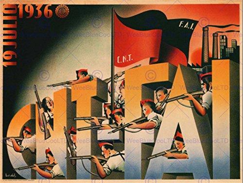 WAR SPANISH CIVIL 19 JULY 1936 CNT FAI REPUBLICAN OUTBREAK SPAIN POSTER 2768PY by Bumblebeaver
