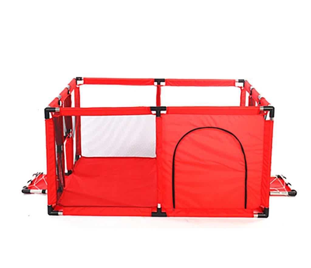 赤い赤ちゃんの遊び場、赤ん坊の子供の遊びペン4パネルキッズアクティビティセンタークロールマット付きルーム、室内の屋外新しいペン (サイズ さいず : 120x100cm) 120x100cm  B07KFHH9HH