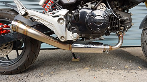 ZoOM Exhaust Honda GROM 125 MSX SF 2013-2018 Full System The Brute Low Mount NEW - Mount Full Exhaust