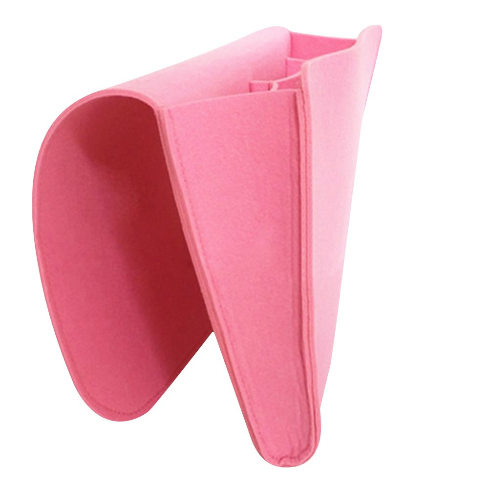 Jipai(TM) Bedside Pocket, for organizing tablet Magazine Phone Small Things Home Sofa Desk Holder (Pink)