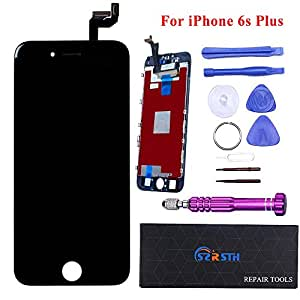 Black LCD for iPhone 6S Plus 5.5 inch - RSTH LCD Screen Touch Digitizer Replacement with 3D Touch Frame & Repair Tools Kit Display
