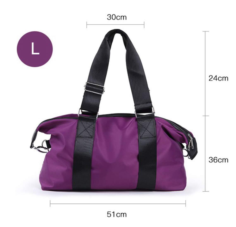 RABILTY Luggage Sports Bag Waterproof Large-Capacity Handbag Oxford Cloth Nylon Diagonal Package Female Travel Bag Short-haul Handbags Business Travel Package Large Female Duffel Bag