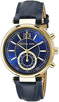 Michael Kors Sayer Amber Blue Leather Ladies Watch