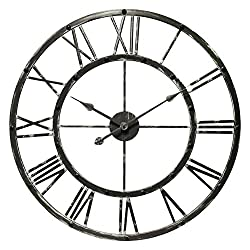 27 Inch Metal Wall Clock MidEvil Riveted, Lancelot by Infinity Instruments