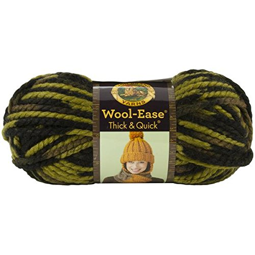 Lion  640-507 Wool-Ease Thick & Quick Yarn , 97 Meters, Jungle