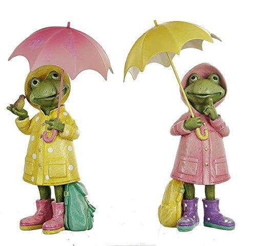 Rainy Day Friends Frog Figurine Set