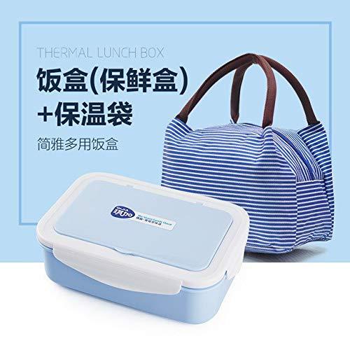Fiesta Calentador de la caja del bento del estudiante por el fiambrera de plástico rectangular de microondas 13: 7