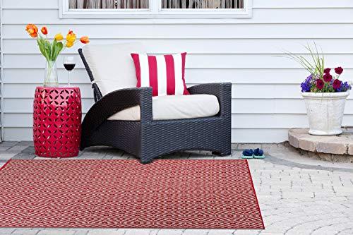 Garden and Outdoor DII Reversible Indoor/Outdoor Diamond Woven Rug, 4 x 6′, Rust outdoor rugs