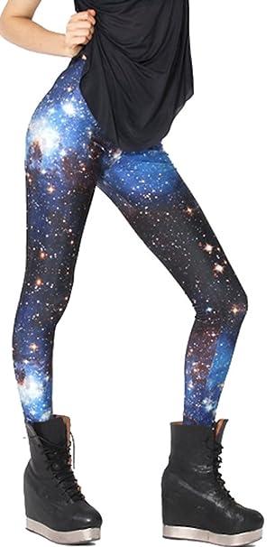 2bcc899330 Women Stretch Luxury Galaxy Print Leggings Space Tight Pants Fadeless #38  at Amazon Women's Clothing store: Pandolah