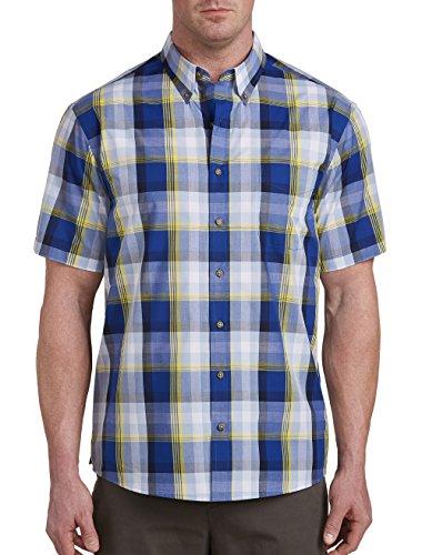 Harbor Bay DXL Big Tall Easy-Care Multi Plaid Sport (Bay Plaid Shirt)