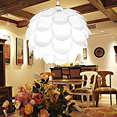 Excelvan Creative DIY KIT Pinecone Shape Puzzle Lampshade &IQ PP Suspension Ceiling Pendant Chandelier Light Shade Lamp For Christmas Living Room, Bedroom, Study, Dining room Decor Lighting