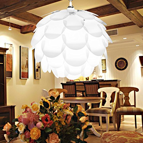 Excelvan Creative DIY KIT Pinecone Shape Puzzle Lampshade &IQ PP Suspension Ceiling (Ceiling Pendant Swag)