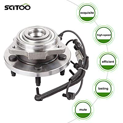SCITOO Compatible with Both (2) 513234 New Complete Front Wheel Hub Bearing Assembly fit 2005 2006 2007 2008 2009 Jeep 5 Lugs w/ABS: Automotive