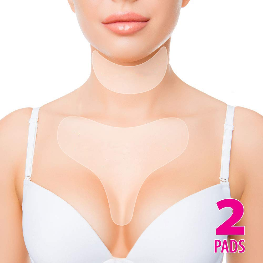 Anti Wrinkle Chest Silicone Pad, Resuable and 100% Medical Grade Décolleté Anti Wrinkle Patches, Smooth Your Skin Set of 2 Pads by SKYWEE PROFESSIONAL PRODUCTS