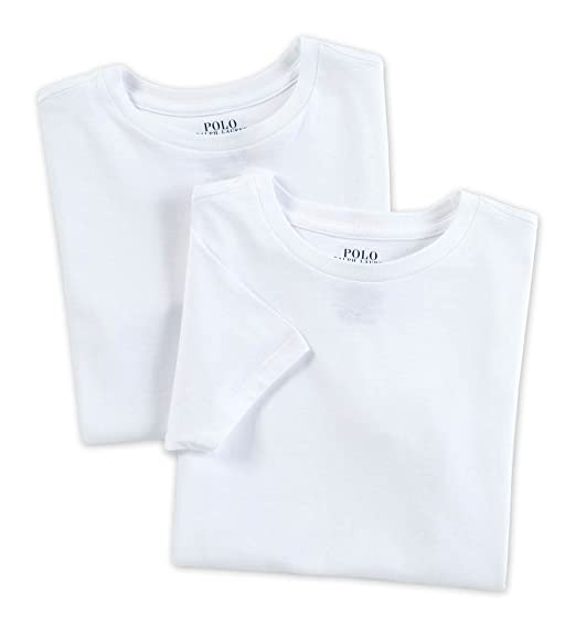 Polo Ralph Lauren Kids Boys 2 Pack Crew Neck Undershirt at Amazon Men s  Clothing store  00e4dd25540