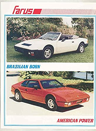 Amazon.com: 1988 Farus Chrysler Turbo Fiberglass Sports Car Brochure Brazil: Entertainment Collectibles